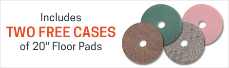 2 cases of pads for FREE with the purchase of this high speed burnisher