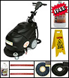 Electric automatic floor scrubber with accessories
