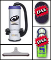 ProTeam backpack vacuum with FREE bags & filters