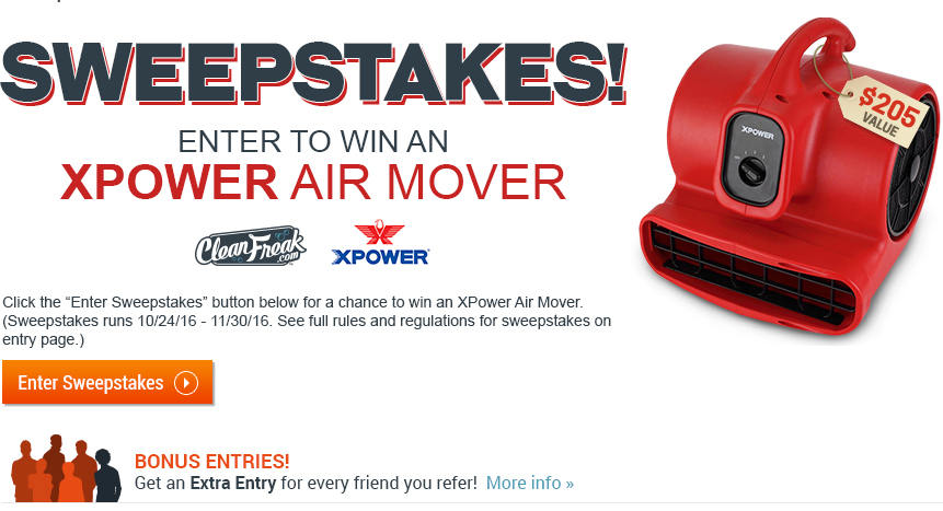 XPower Air Mover Sweepstakes