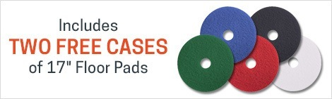 2 cases of pads are included for FREE with the purchase of this 17 inch machine