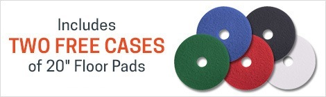 2 cases of pads for FREE with the purchase of this 20 inch machine