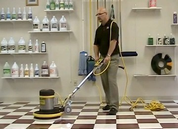Floor Buffer Scrubbing