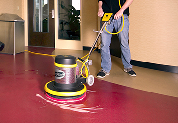 Spray Buffing a Floor