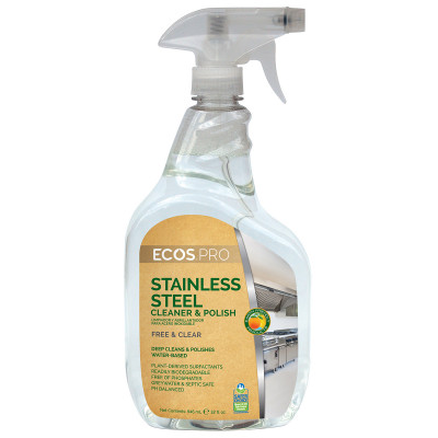 ECOS PRO™ Water Based Stainless Steel Cleaner & Polish