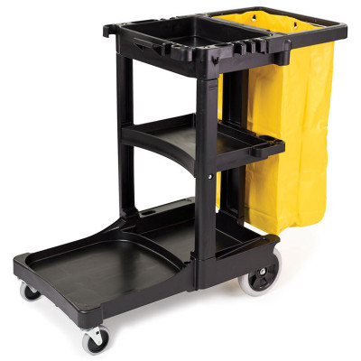 Rubbermaid Black Janitor Cart - 6173