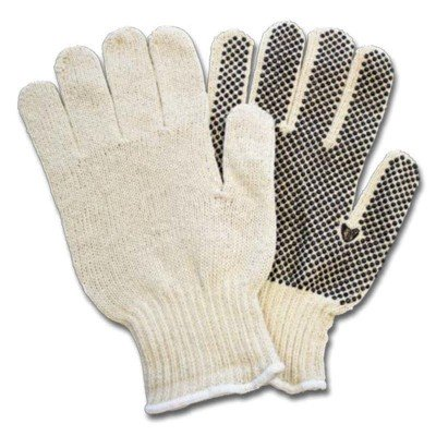 String Knit with PVC Dot Palm Gloves