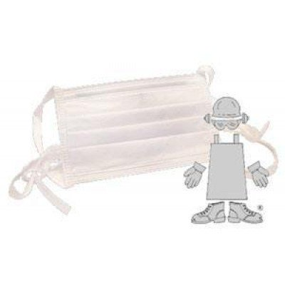 Tie On Pleated Surgical Procedural Mask