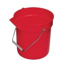 Red Continental 14 quart Plastic Pail/Bucket