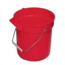 Red Continental 10 qt. Plastic Pail