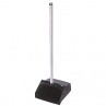 Black Lobby Dust Pan with Handle
